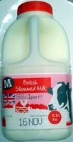 British Skimmed Milk - Product