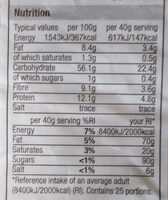Porridge Oats - Nutrition facts - en