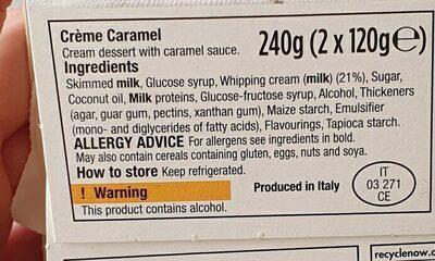 crème caramel - Ingredients - en