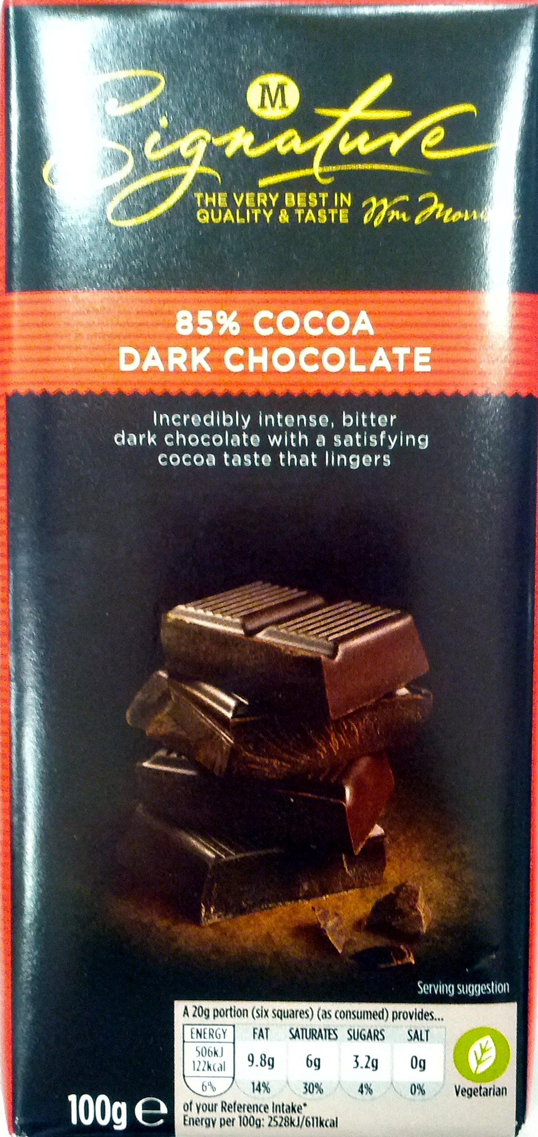 Cocoa dark chocolate - Product