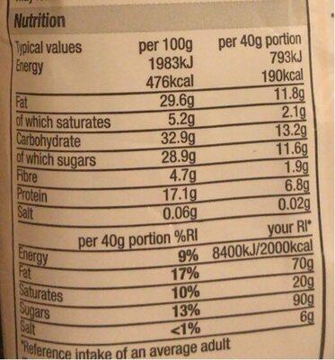 Fruit and nut Mix - Valori nutrizionali - en