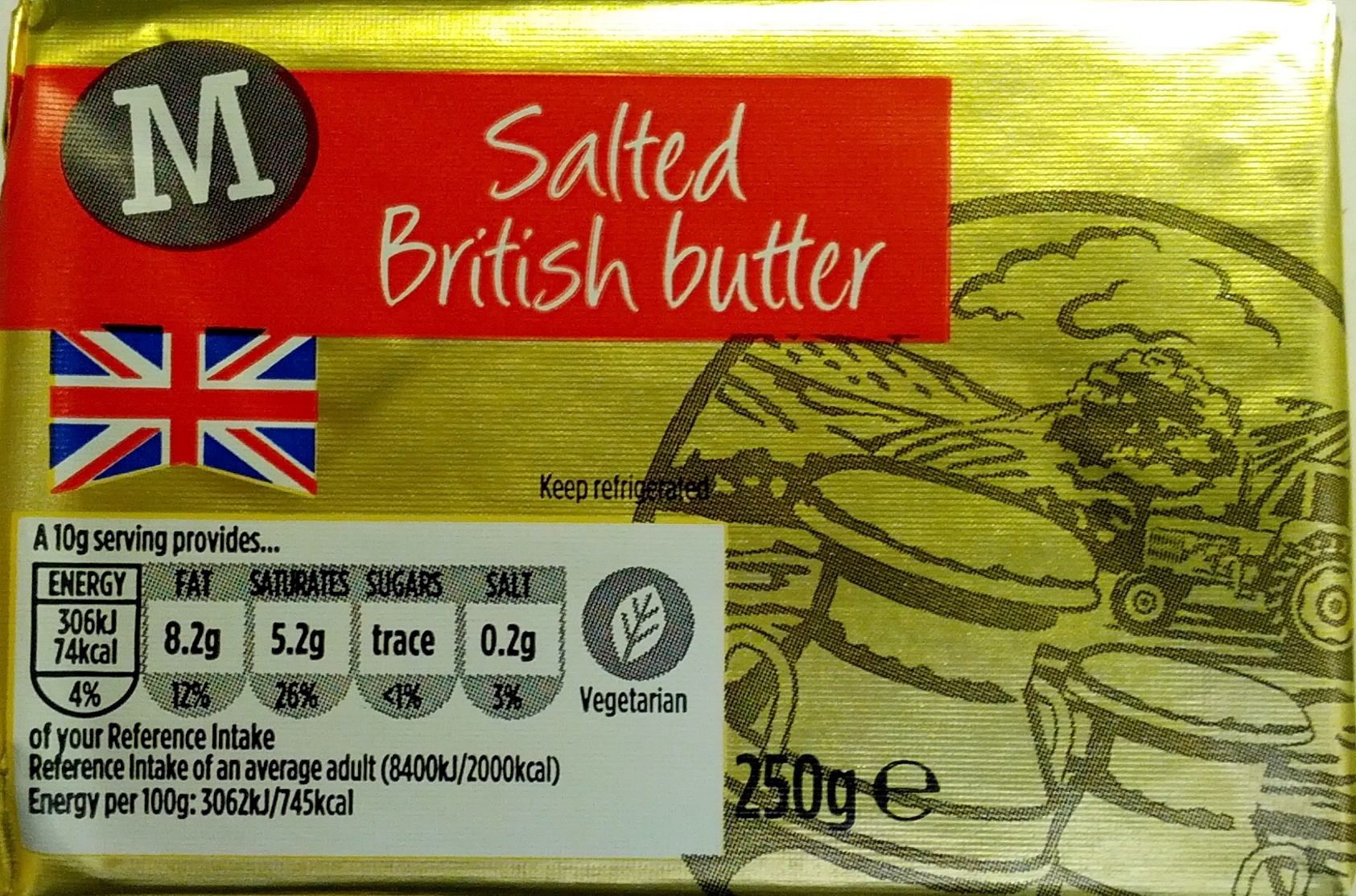 Salted British Butter - Product - en