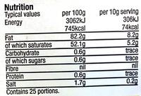 Salted British Butter - Voedingswaarden - en