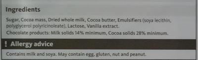 Milk Chocolate - Ingrédients - en