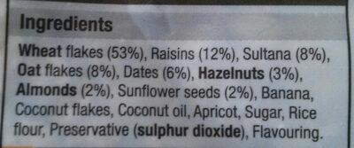 Wholewheat muesli - Ingredienti - en