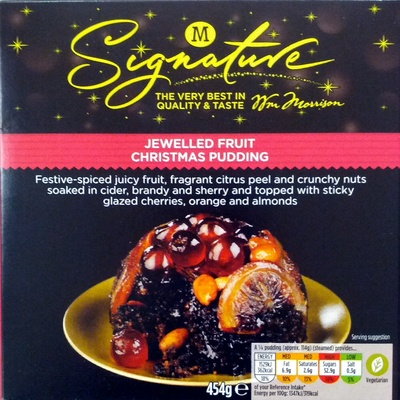Jewelled Fruit Christmas Pudding - Product