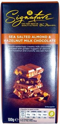 Sea Salted Almond & Hazelnut Milk Chocolate - Product - en