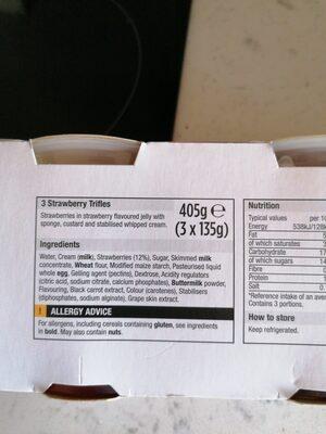 Morrisons strawberry trifle - Ingredients - en