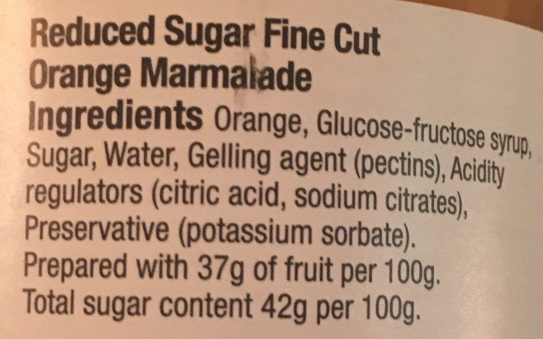 Marmalade - Ingredientes - en