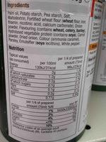 Vegetable gravey granuels - Ingredients