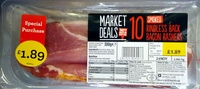 Smoked Rindless Back Bacon Rashers - Product