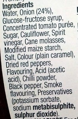 BBQ Relish - Ingredients - en