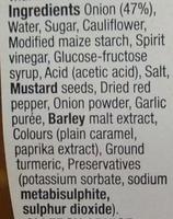 Onion Relish - Ingredients - en