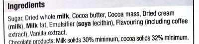 Creamy Cappucino Milk Chocolate - Ingredients - en