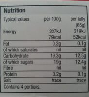 super fruities - Valori nutrizionali - en