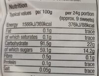 Jelly Beans - Nutrition facts - en