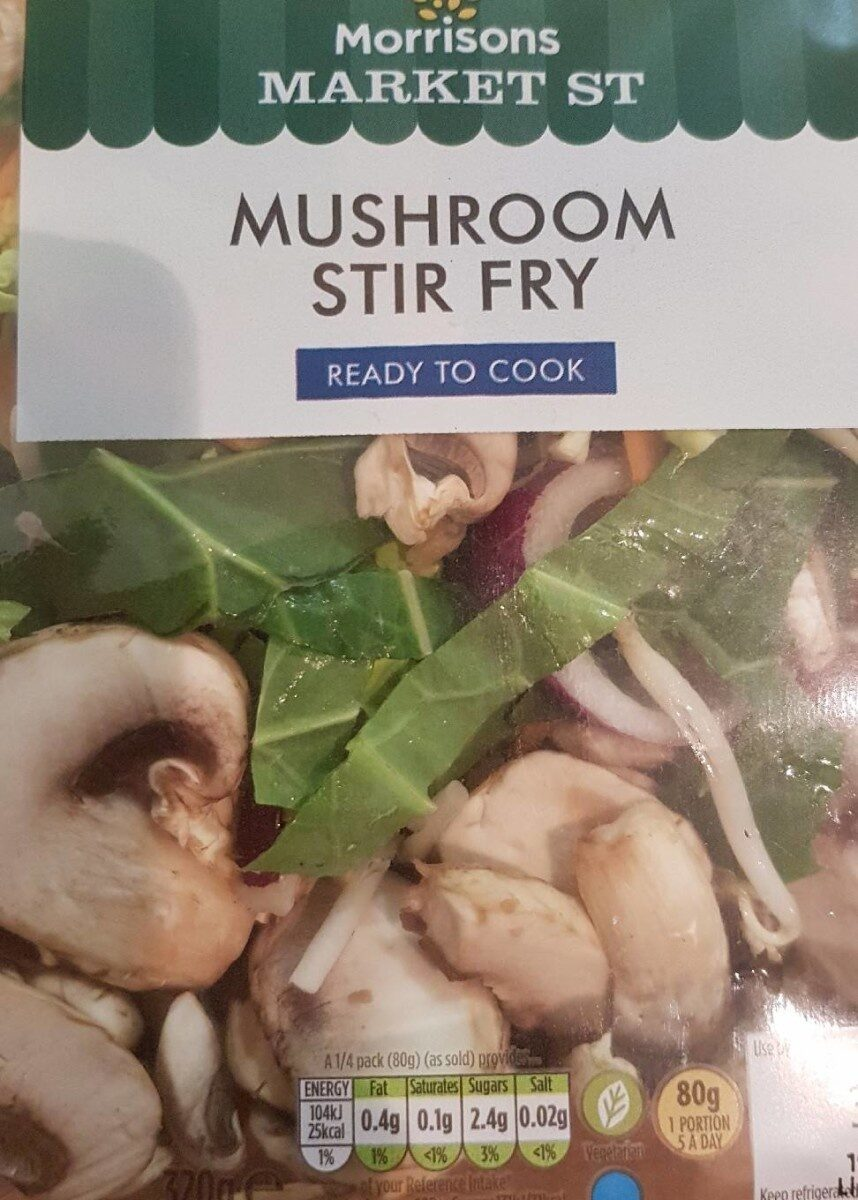 Mushroom stir fry - Nutrition facts