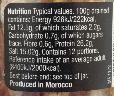 Silverskin Anchovy Fillets - Nutrition facts - en
