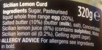 Sicilian lemon curd - Ingredients