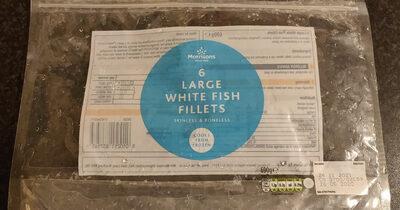 6 large white fish fillets - Produit - en