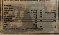 6 large white fish fillets - Informations nutritionnelles - en