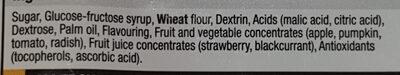 Fizzy Strawberry Straws - Ingredients
