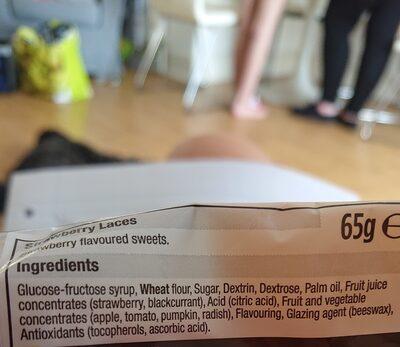 Strawberry laces - Ingredients - en