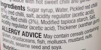 hot sweet chilli dipping sauce - Ingredients - en