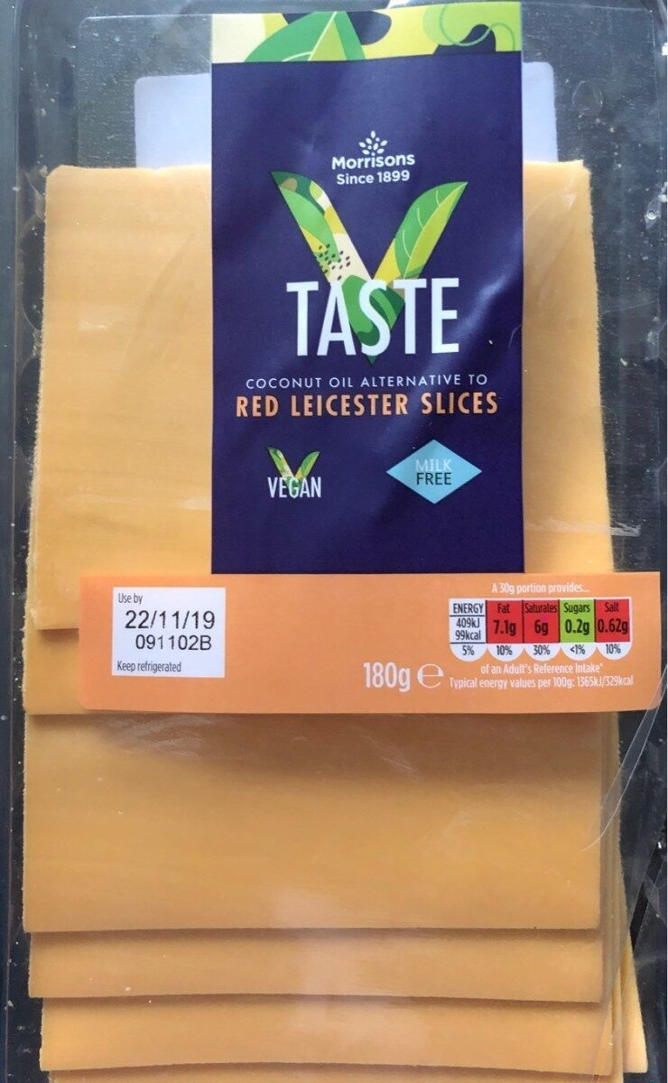 Taste - coconut oil alternative to red leicester slices - Product