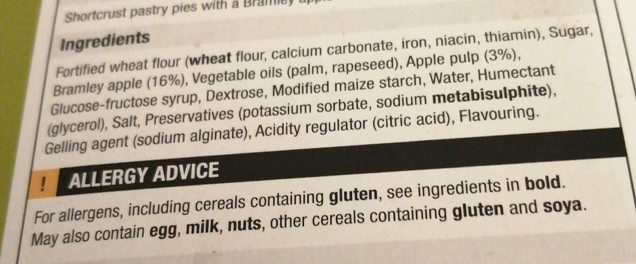 6 Brambley Apple Pies - Nutrition facts - en