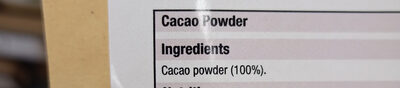 cacao powder - Ingredients - en