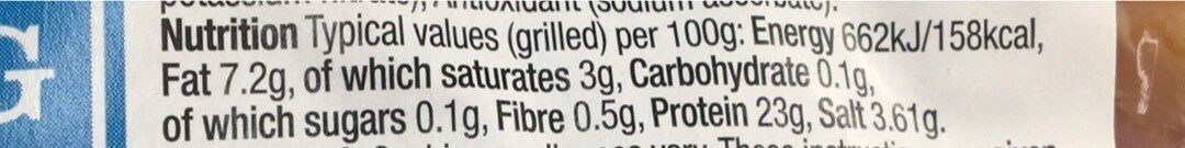 Morrisons Cooking Bacon - Nutrition facts - en