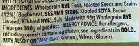 Multigrain Crispbread - Ingrédients
