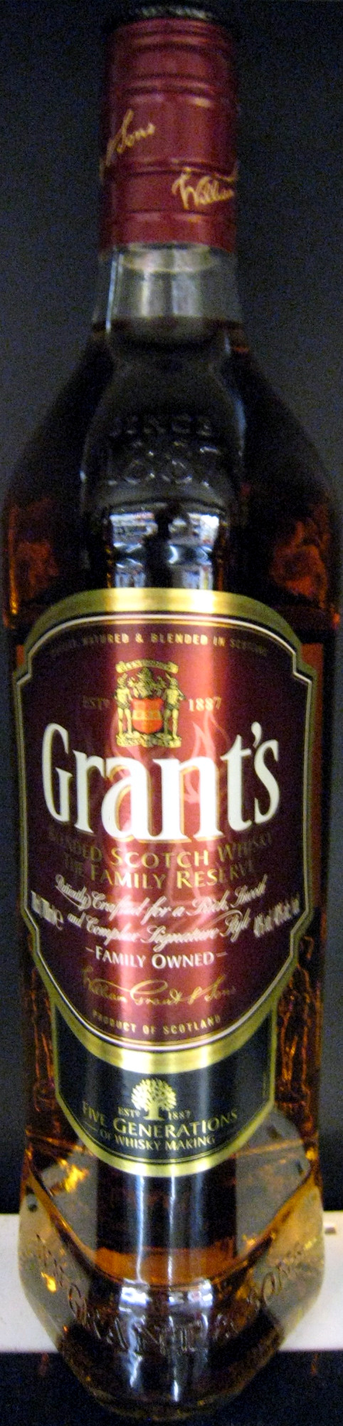 Grant's blended scotch wisky the family reserve 70 cl since 1887 - Product
