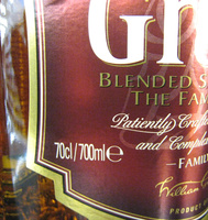 Grant's blended scotch wisky the family reserve 70 cl since 1887 - Ingredients