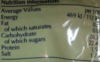 OSTION Y CEBOLLIN - Nutrition facts