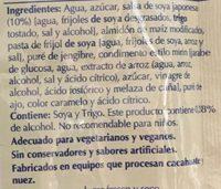 SALSA TERIYAKI - Ingredients