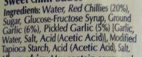 Sweet Chilli Sauce - Ingredients - en