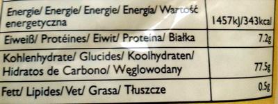 Arroz sushi - Voedingswaarden - fr