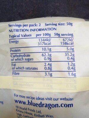 Médium egg noodles - Valori nutrizionali - fr