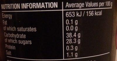 Steak Sauce - Informations nutritionnelles - en