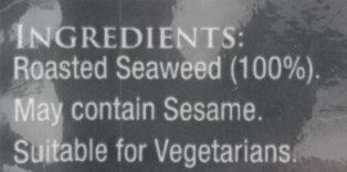Sushi Nori - Ingrediënten - en