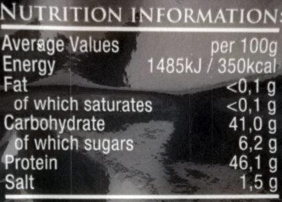 Sushi Nori - Voedingswaarden - en