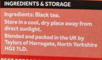 Yorkshire Tea - Nutrition facts - en