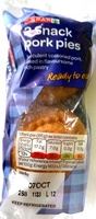 2 Snack Pork Pies - Product