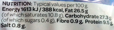 2 Snack Pork Pies - Nutrition facts