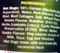 8 hot dogs - Ingrediënten
