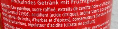 Vimto - Ingrédients - fr