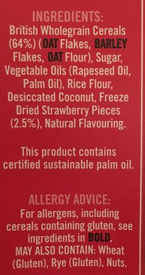 Country Crisp Real Strawberry - Ingredients