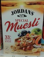 Jordan's Special Muesli 30% de fruits & noix - Produit - fr